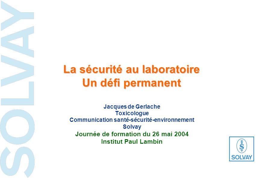 les risques chimiques et leur prévention dans les laboratoires