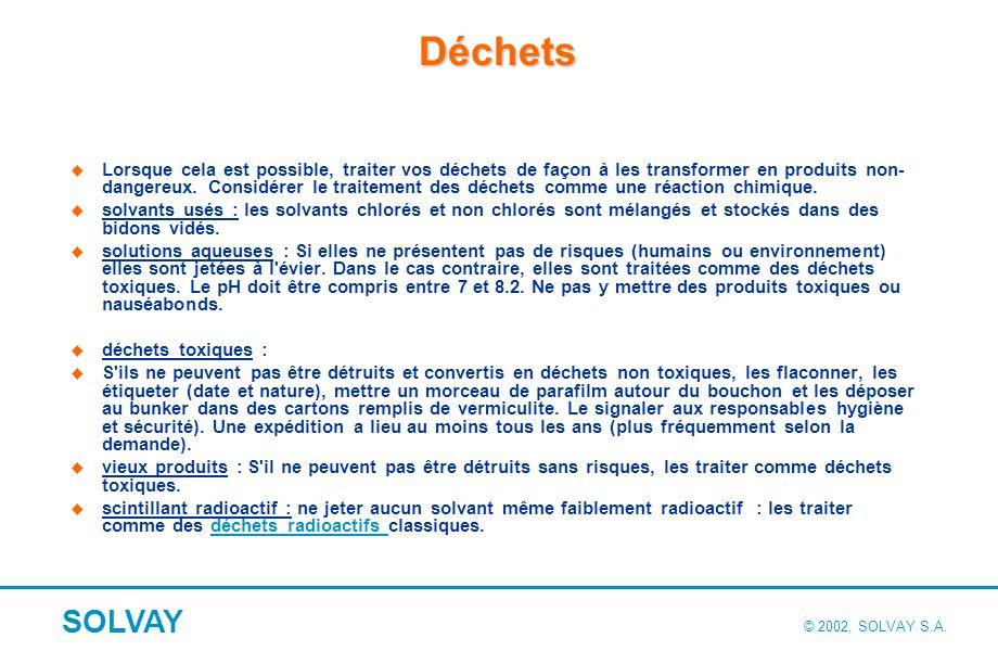 Les risques liés au stockage des produits chimiques au laboratoire (*)
