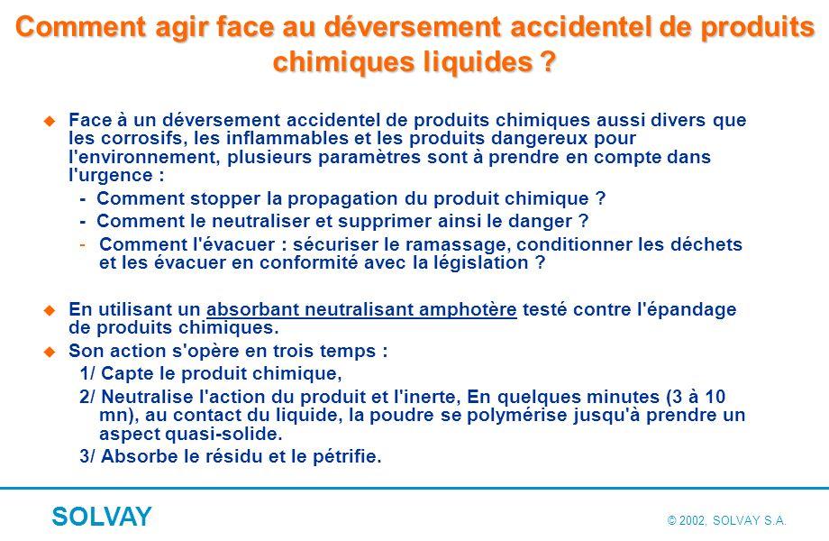 Comment agir face au déversement accidentel de produits chimiques liquides