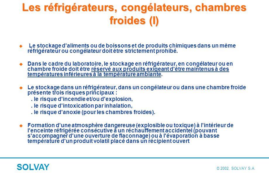 Les réfrigérateurs, congélateurs, chambres froides (II)