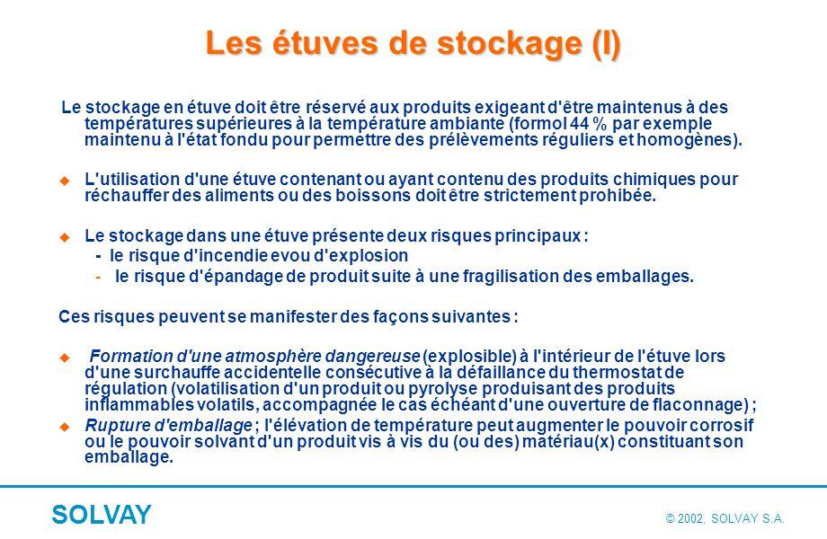Les étuves de stockage (II)