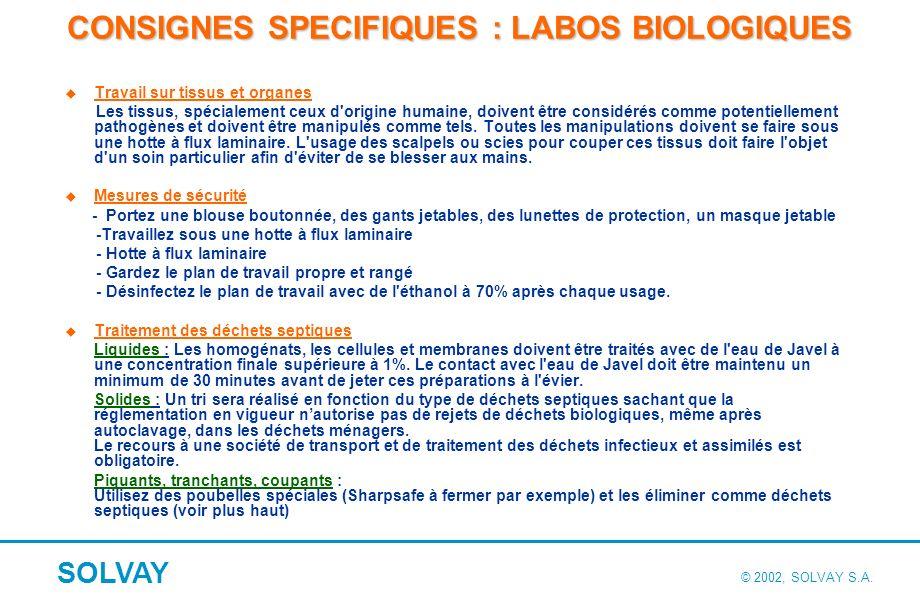 Bonnes pratiques de laboratoire sur la prévention des risques biologiques