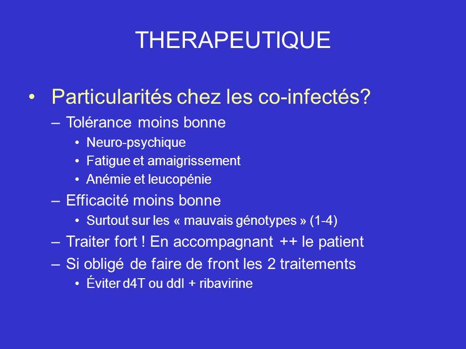 THERAPEUTIQUE Particularités chez les co-infectés