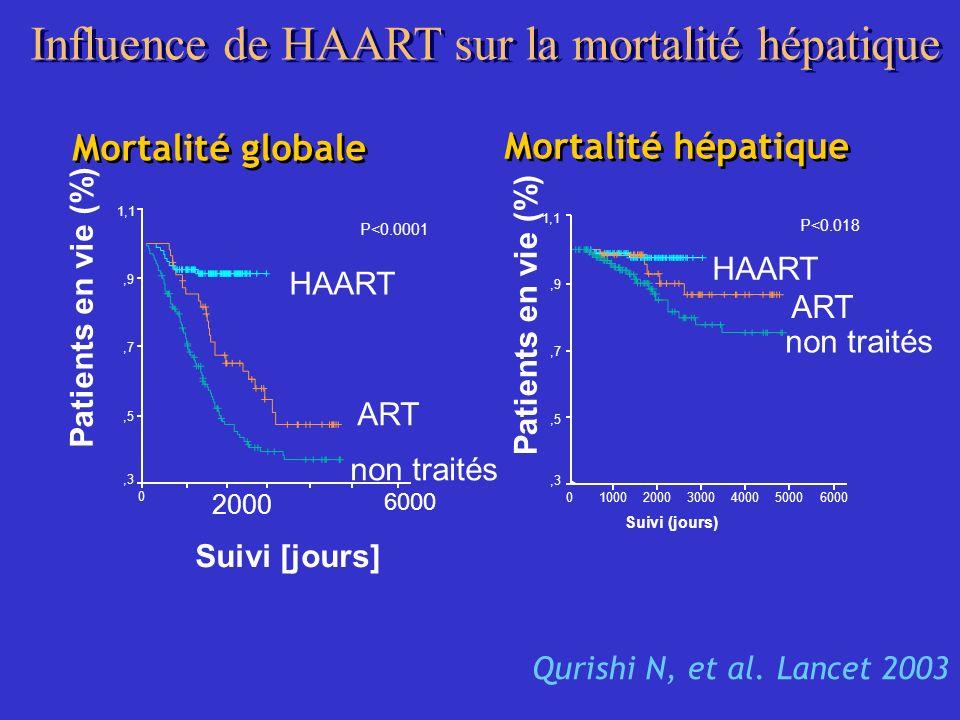 Influence de HAART sur la mortalité hépatique