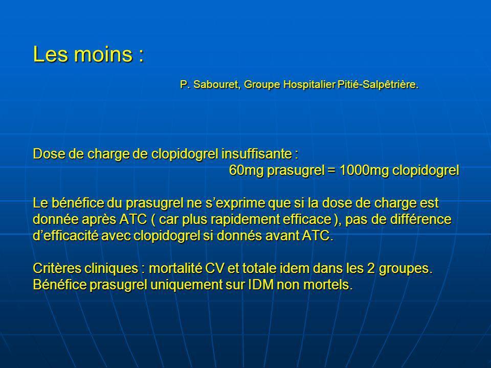 Les moins :. P. Sabouret, Groupe Hospitalier Pitié-Salpêtrière