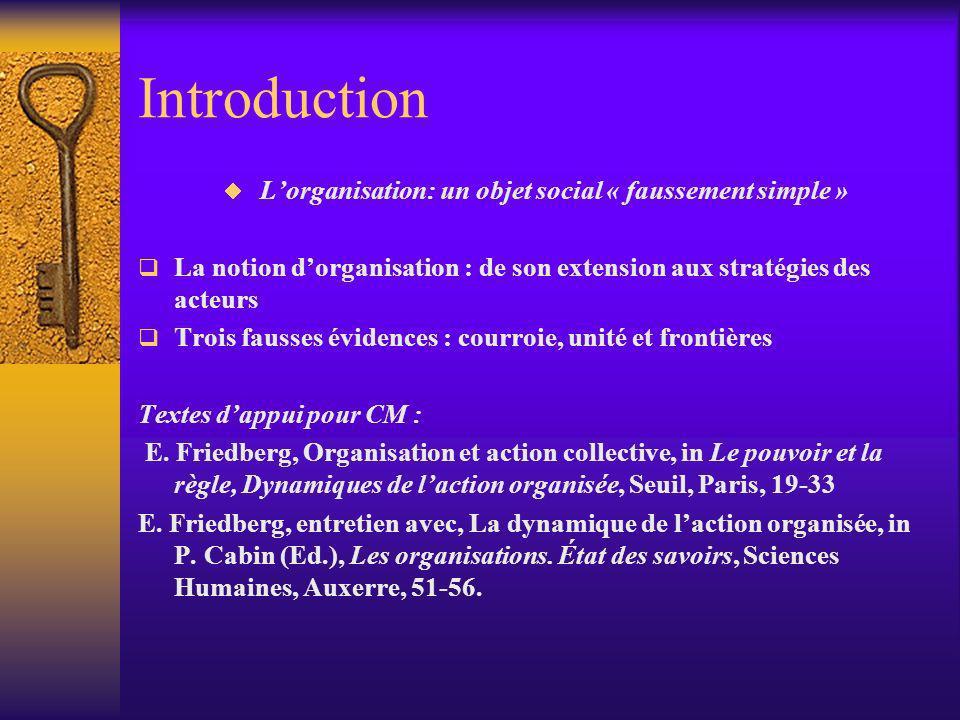 L'organisation: un objet social « faussement simple »