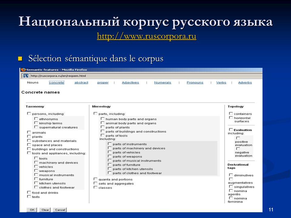 Национальный корпус русского языка http://www.ruscorpora.ru