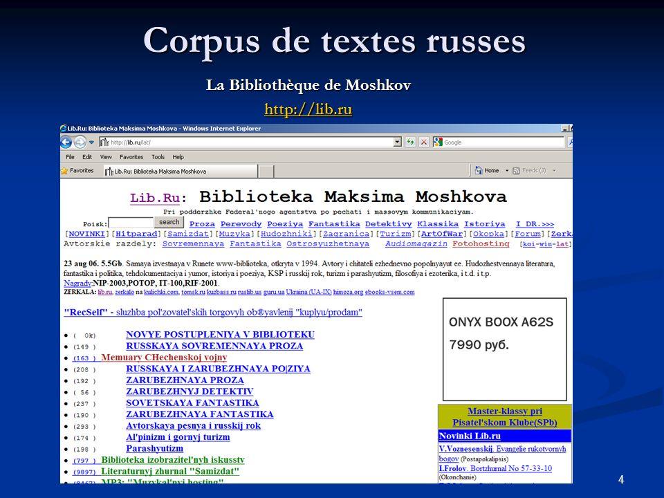 Corpus de textes russes
