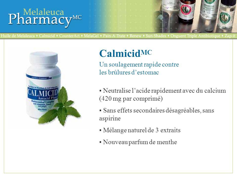 CalmicidMC Un soulagement rapide contre les brûlures d'estomac