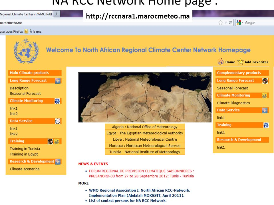 NA RCC Network Home page :