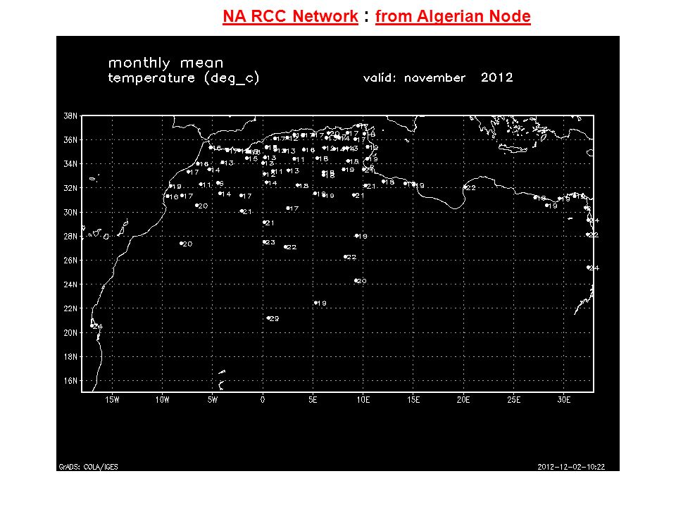 NA RCC Network : from Algerian Node