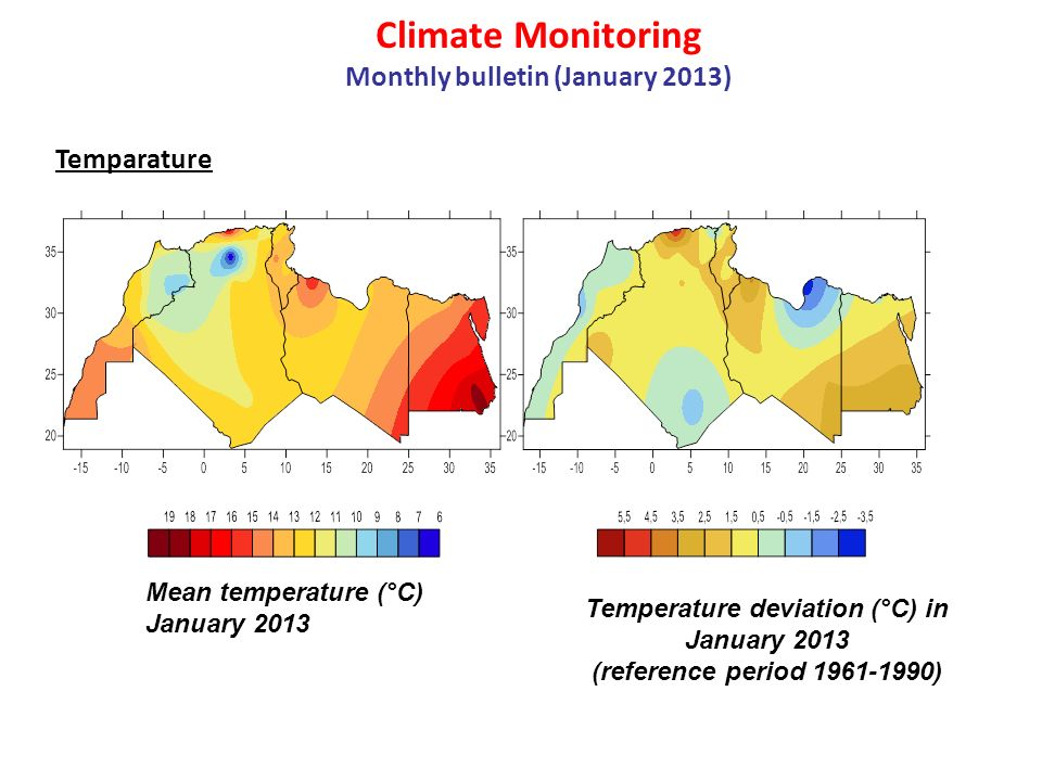 Climate Monitoring Monthly bulletin (January 2013)