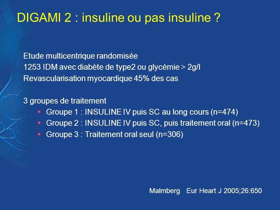 DIGAMI 2 : insuline ou pas insuline