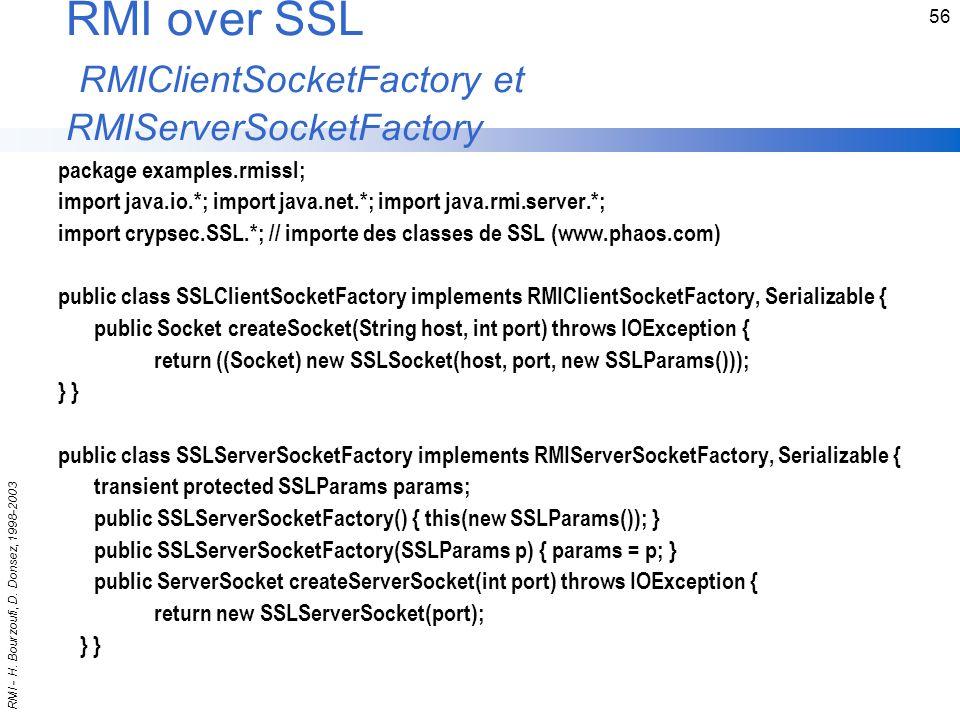 RMI over SSL RMIClientSocketFactory et RMIServerSocketFactory