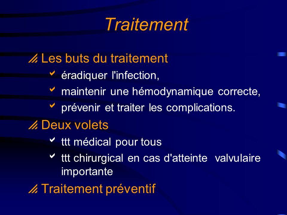 Traitement Les buts du traitement Deux volets Traitement préventif