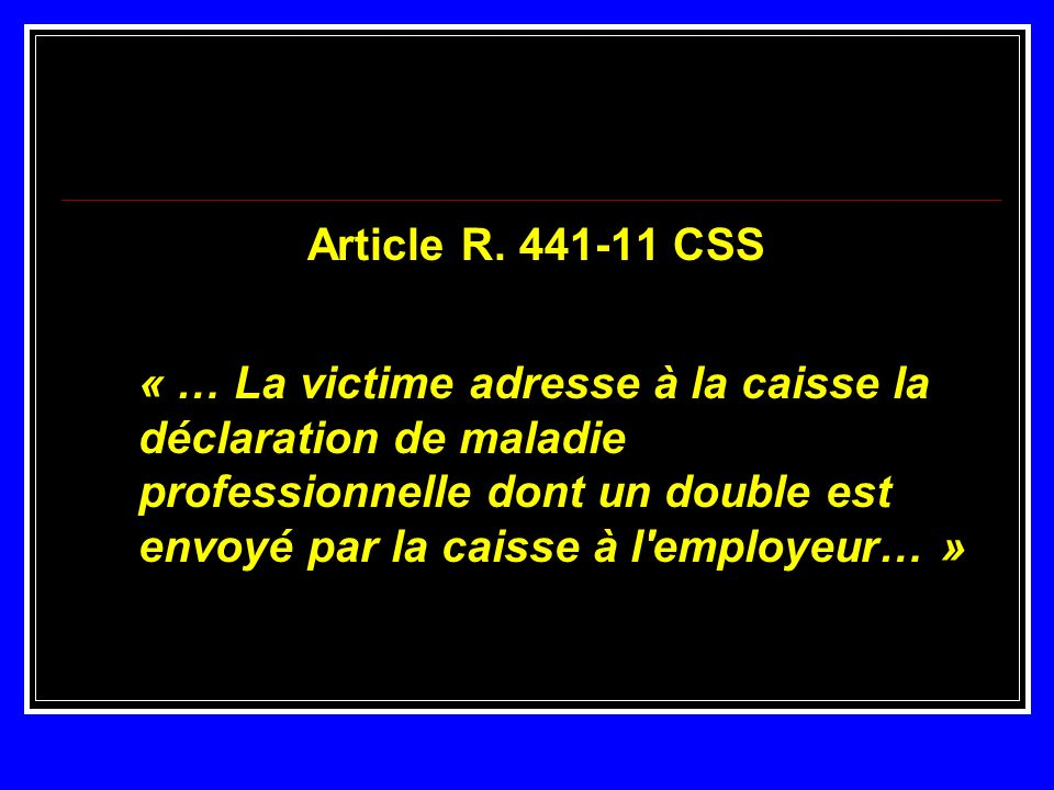 Article R. 441-11 CSS