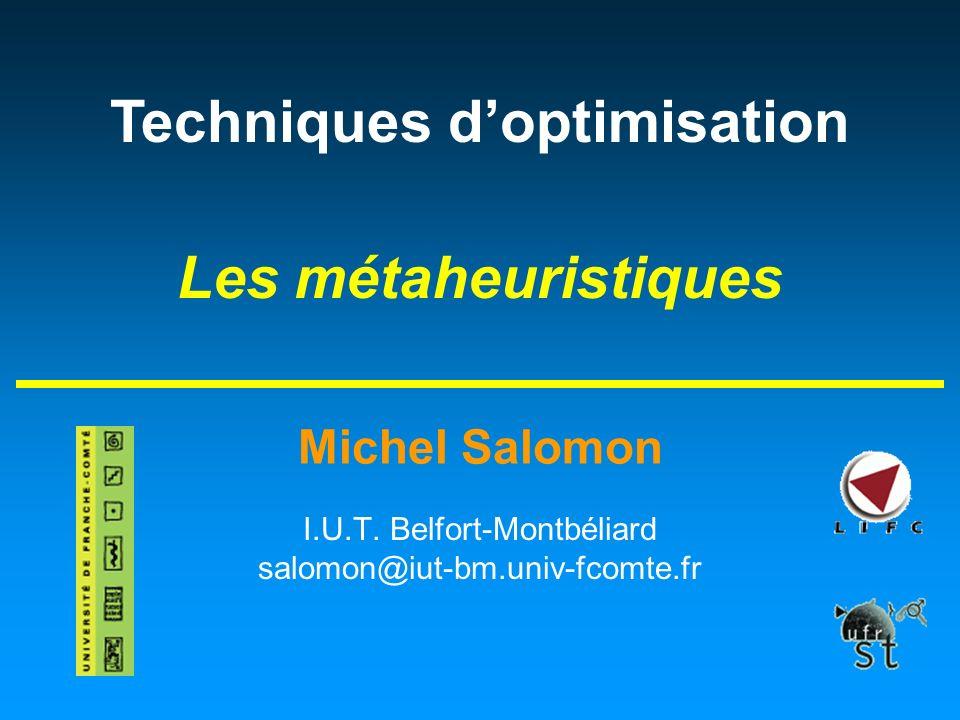 I.U.T. Belfort-Montbéliard salomon@iut-bm.univ-fcomte.fr