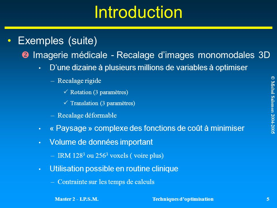 Introduction Exemples (suite)