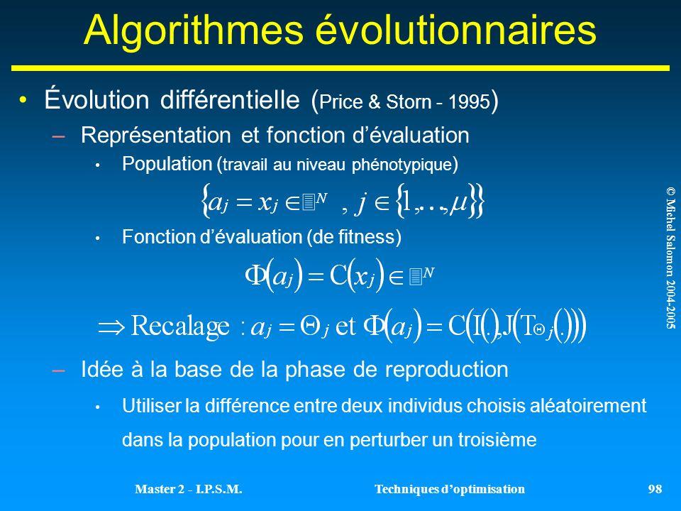 Algorithmes évolutionnaires