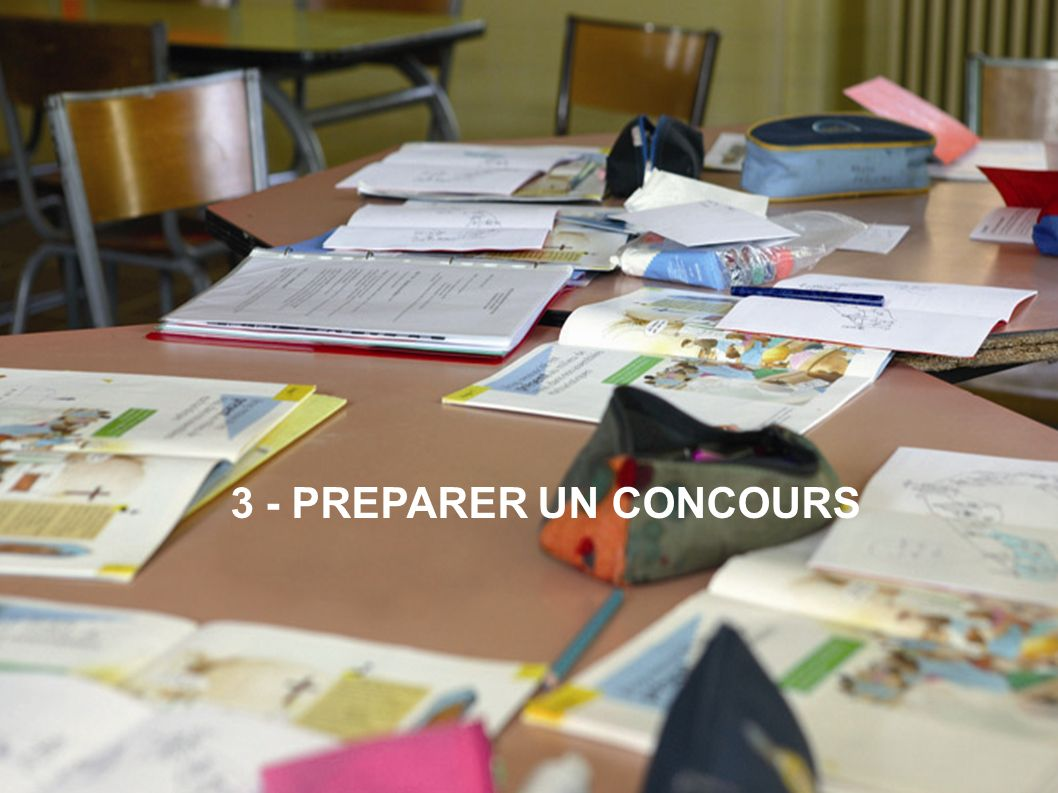3 - PREPARER UN CONCOURS