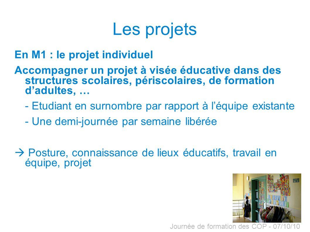 Les projets En M1 : le projet individuel