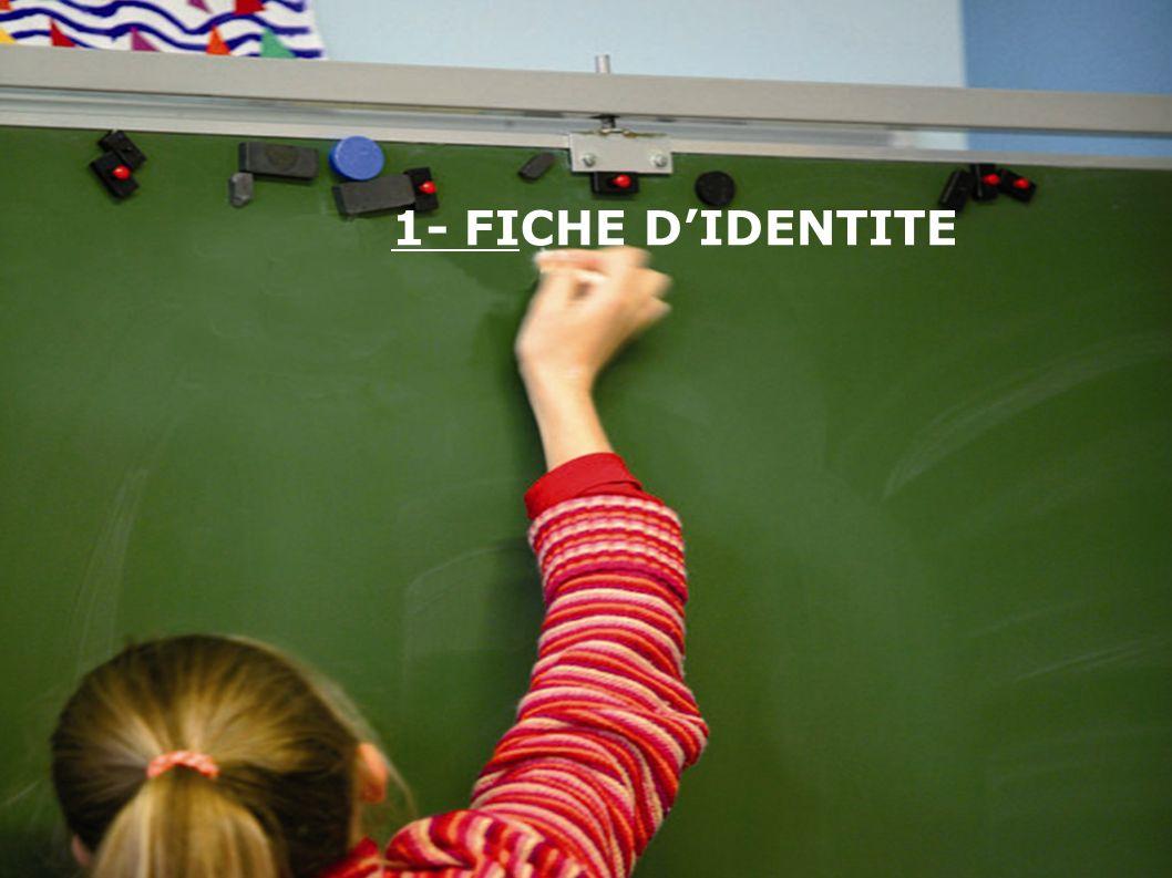 1- FICHE D'IDENTITE