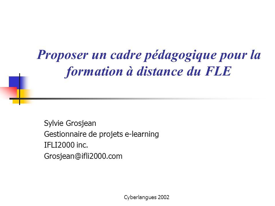 Proposer un cadre pédagogique pour la formation à distance du FLE