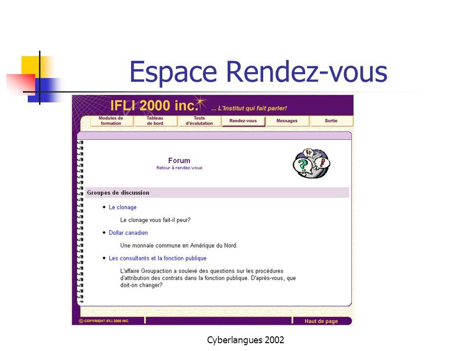 Espace Rendez-vous Cyberlangues 2002