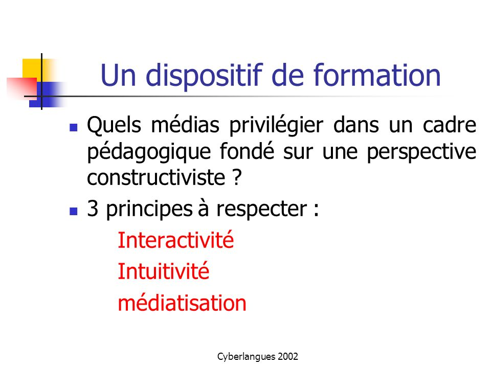 Un dispositif de formation