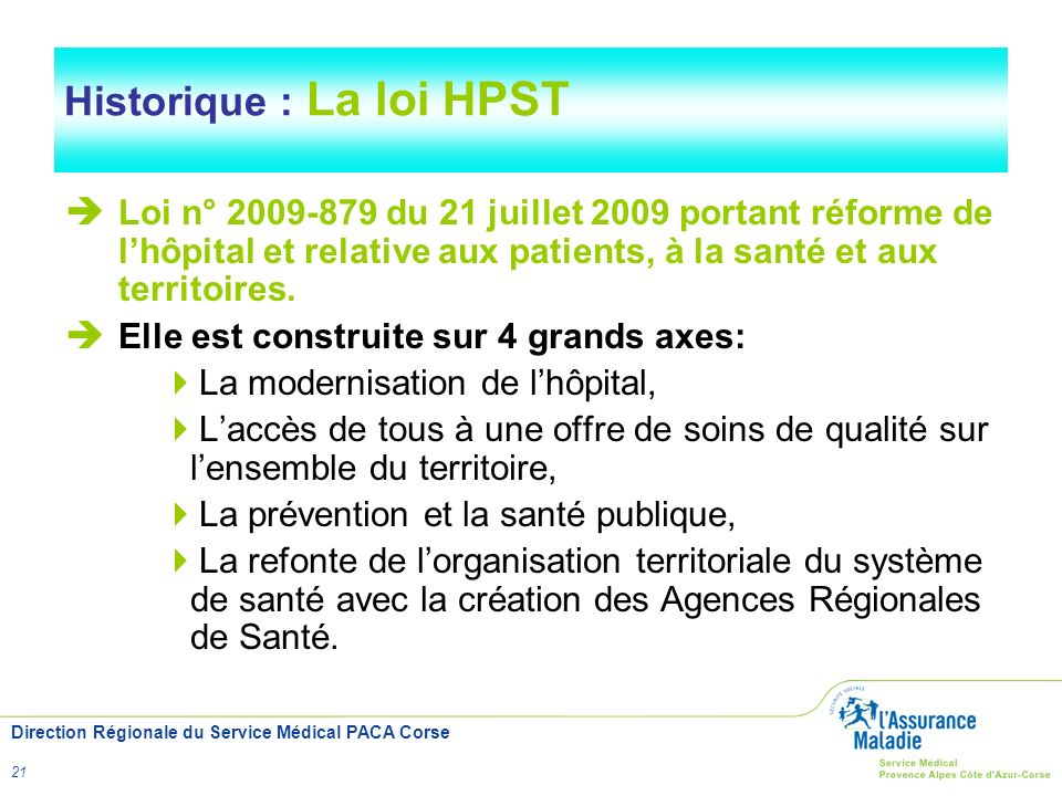 Historique : La loi HPST
