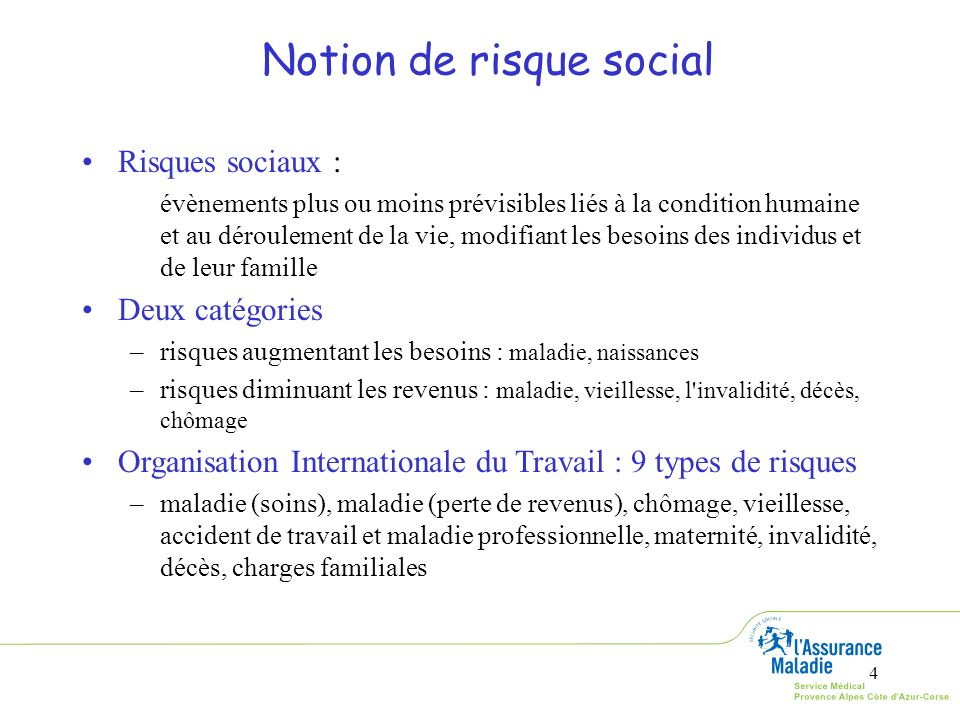 Notion de risque social