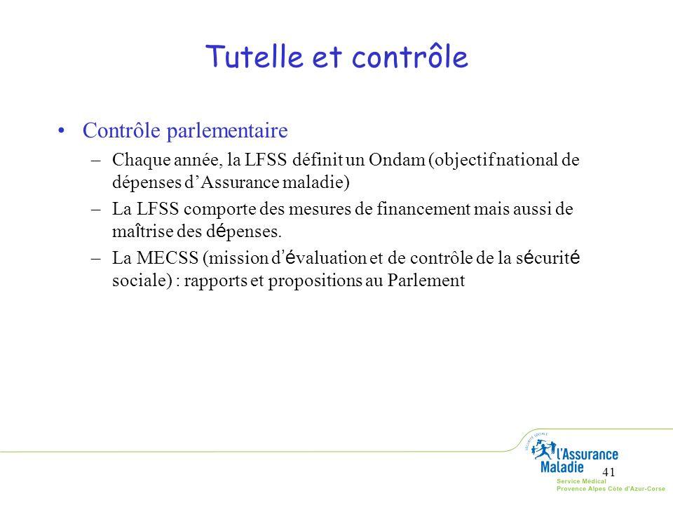 Tutelle et contrôle Contrôle parlementaire