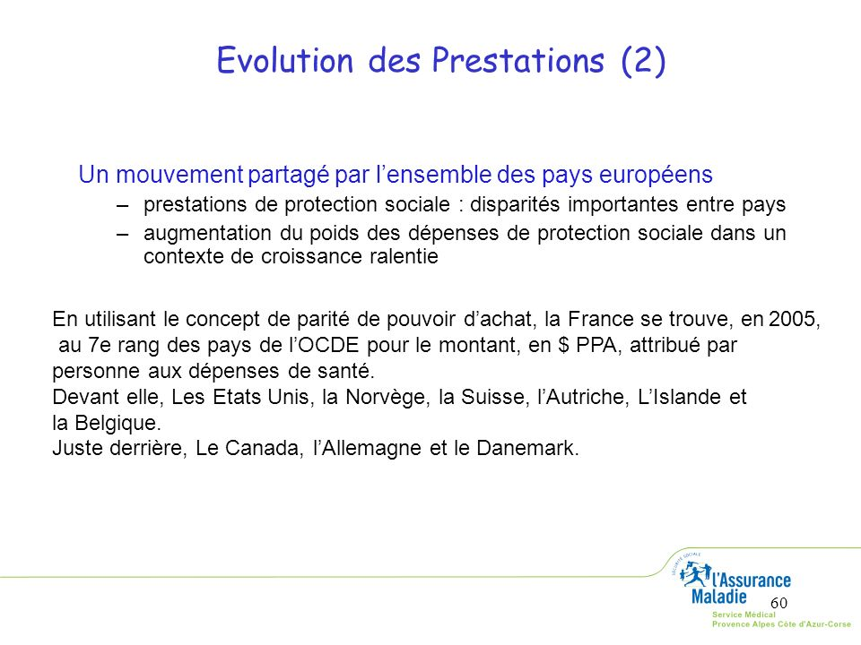 Evolution des Prestations (2)