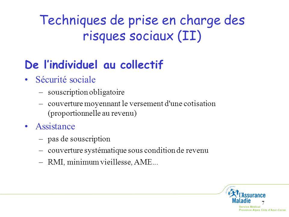 Techniques de prise en charge des risques sociaux (II)