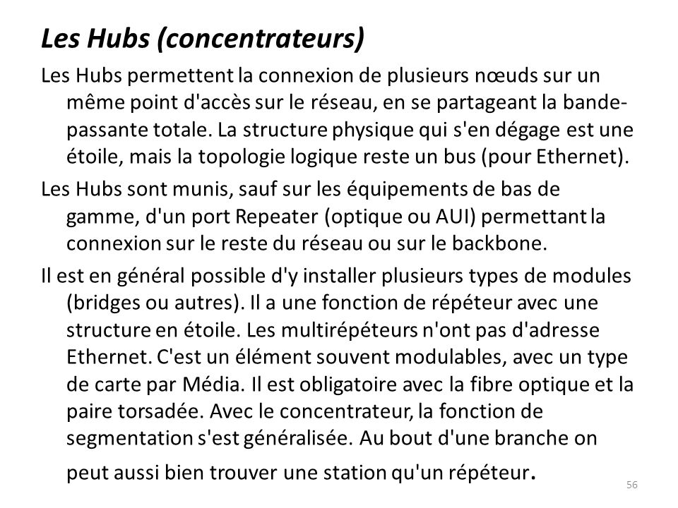 Les Hubs (concentrateurs)