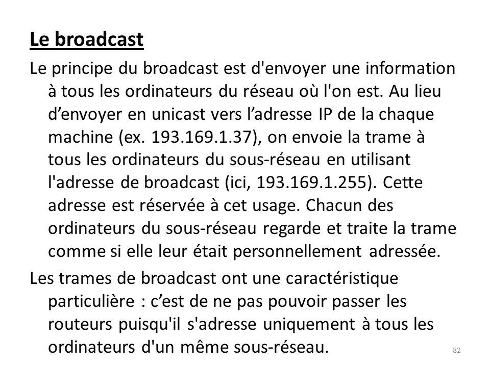 Le broadcast