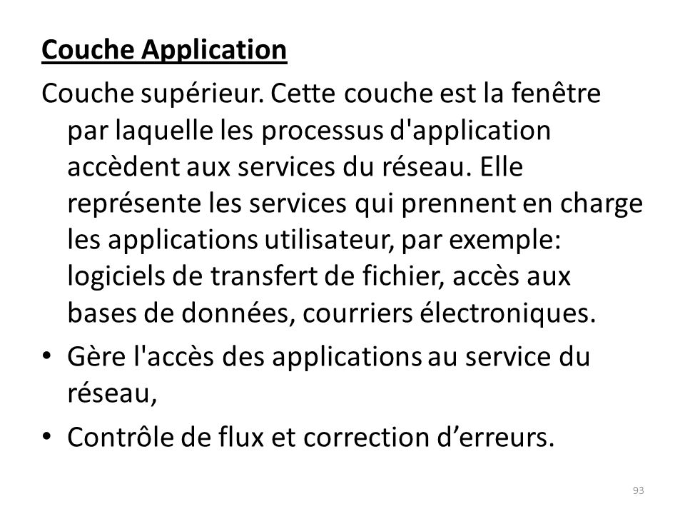 Couche Application