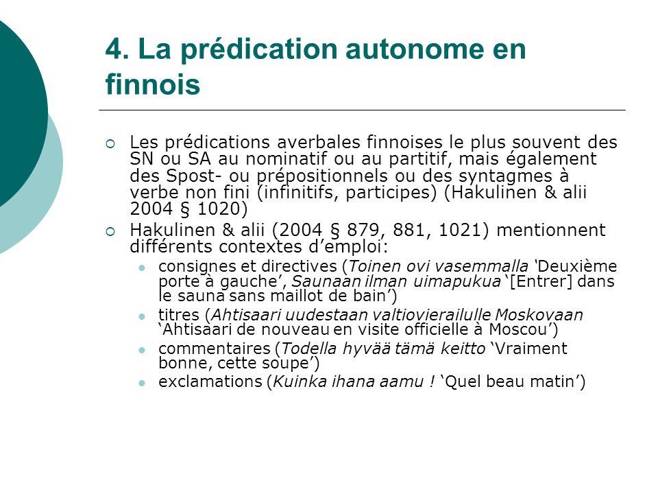 4. La prédication autonome en finnois
