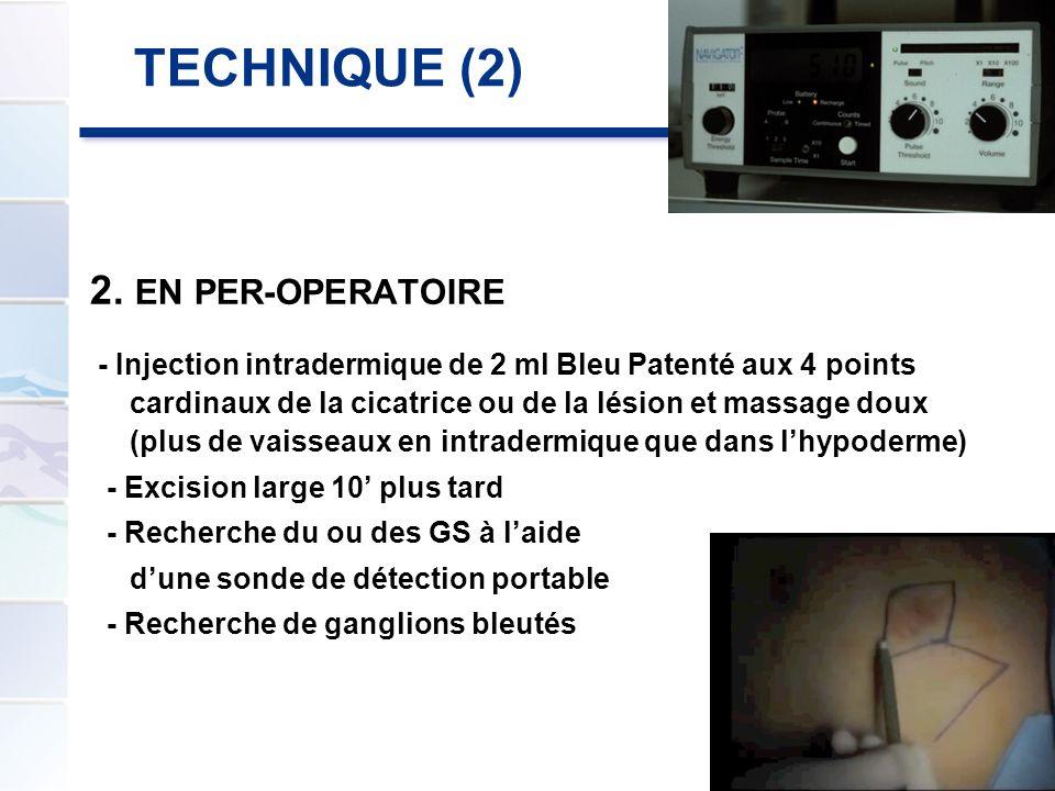 TECHNIQUE (2) 2. EN PER-OPERATOIRE