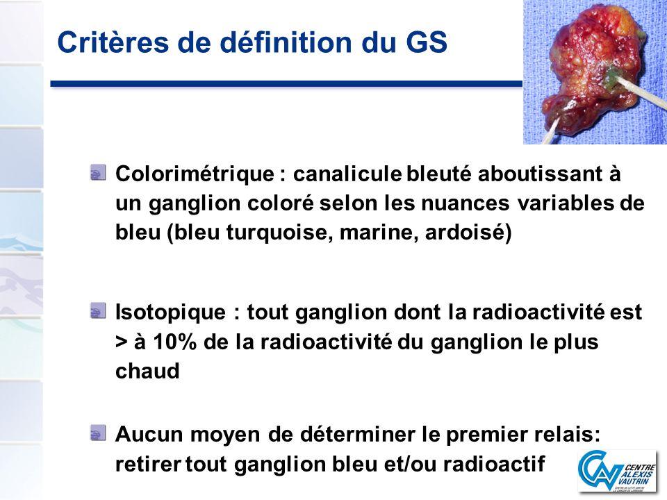 Critères de définition du GS
