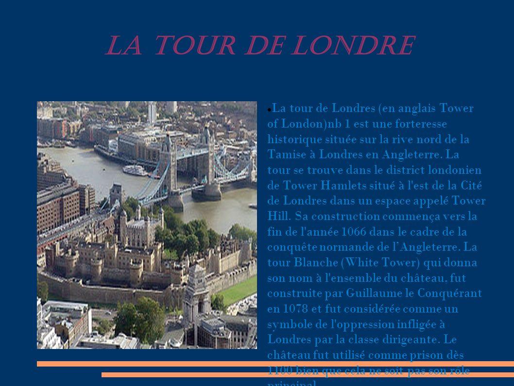 LA TOUR DE LONDRE