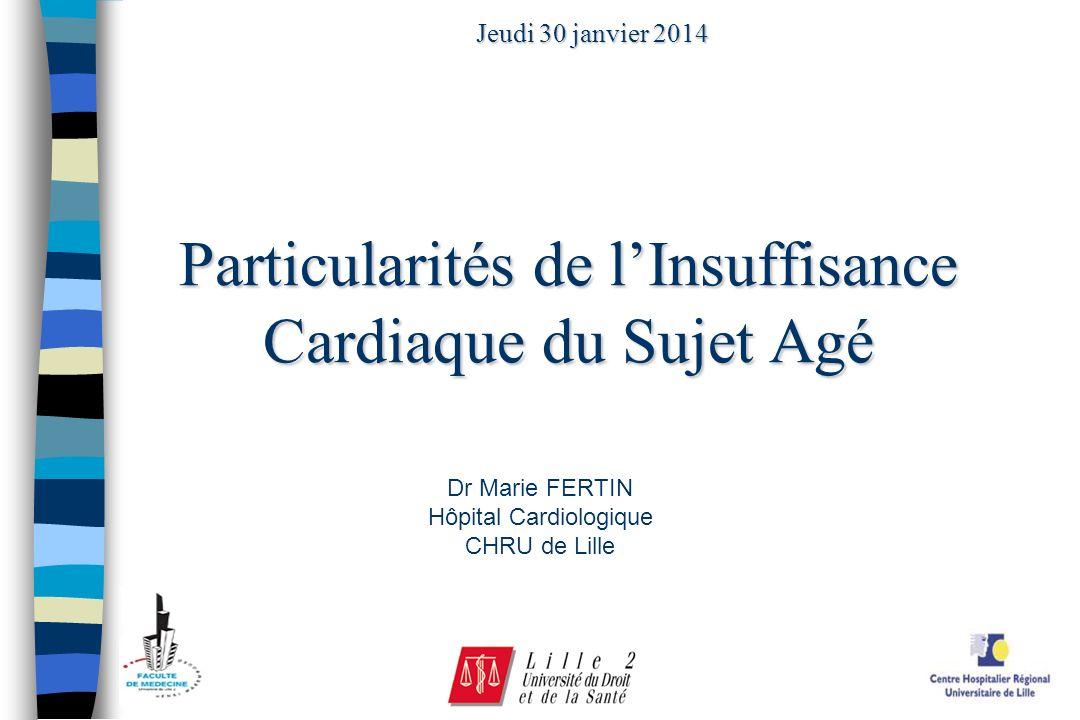 Particularités de l'Insuffisance Cardiaque du Sujet Agé