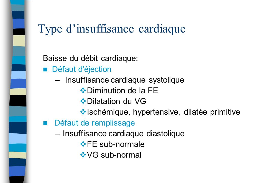 Type d'insuffisance cardiaque