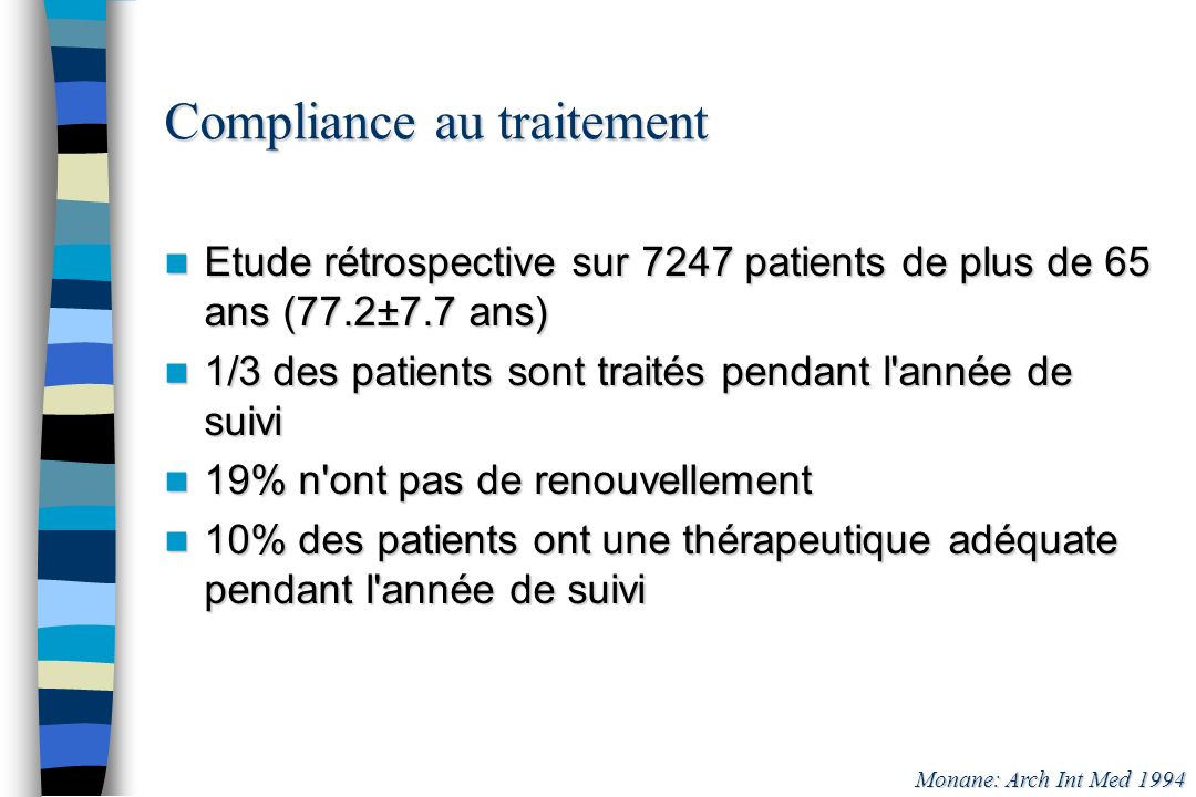 Compliance au traitement