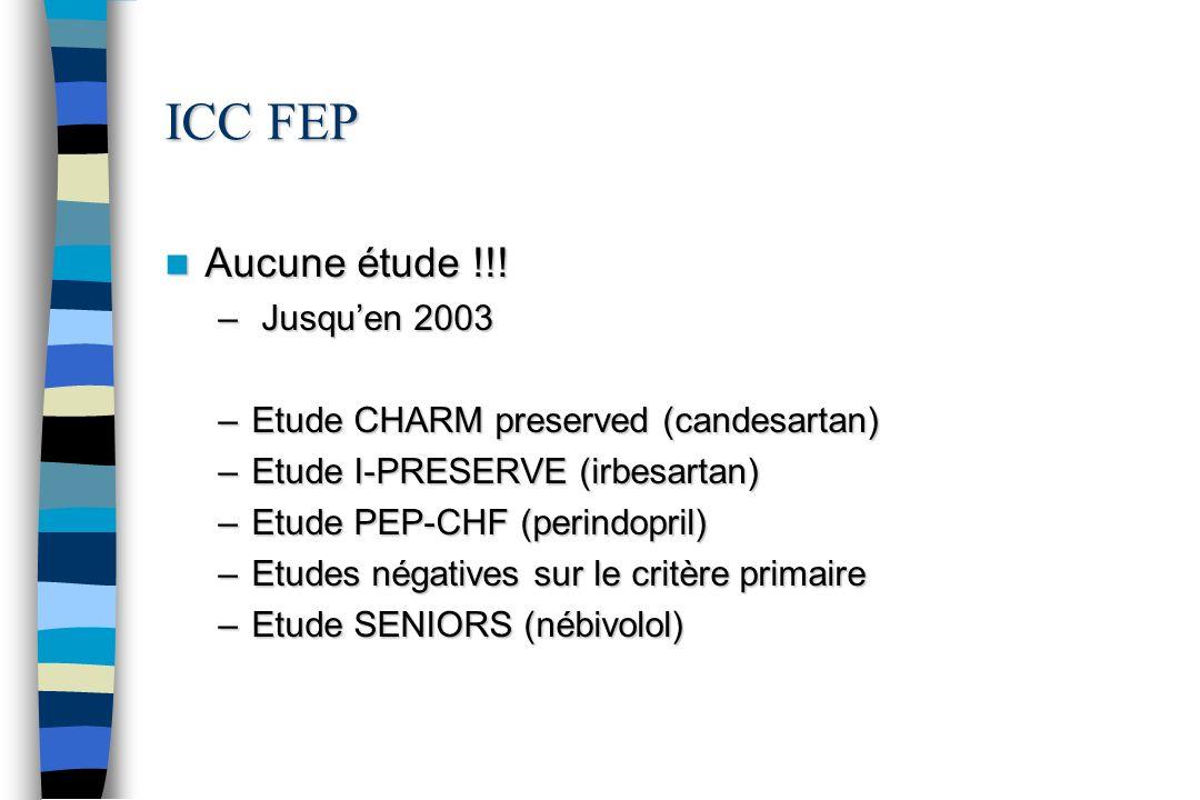 ICC FEP Aucune étude !!! Jusqu'en 2003
