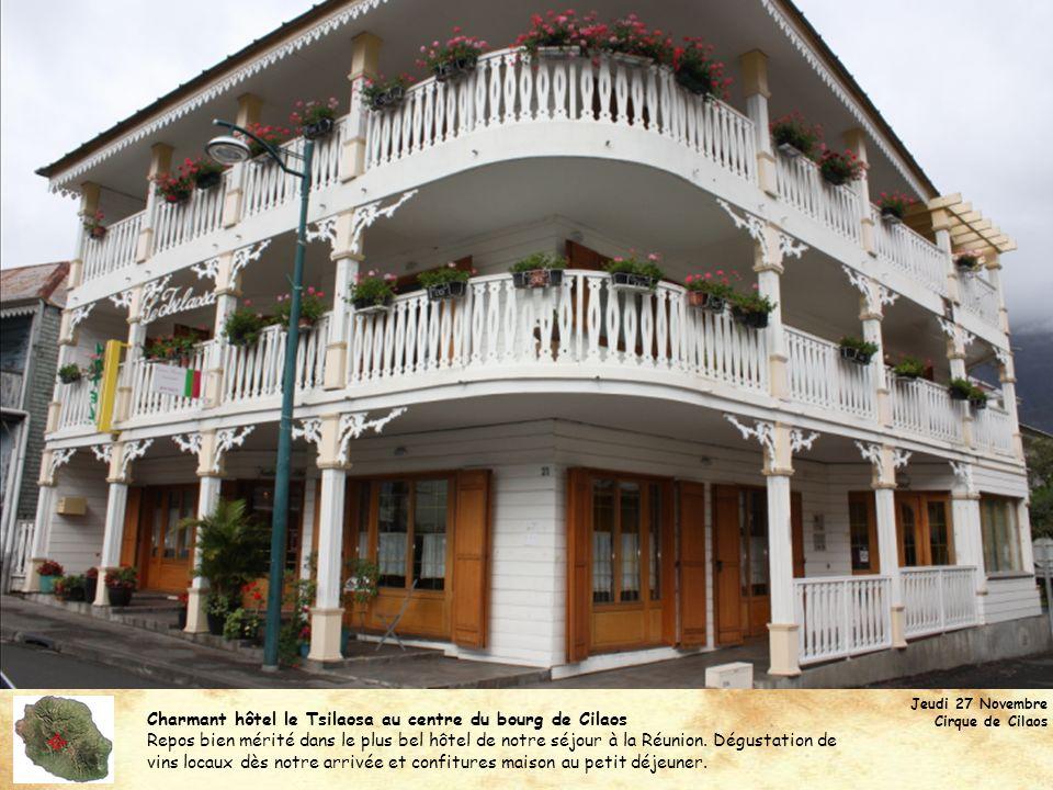  Charmant hôtel le Tsilaosa au centre du bourg de Cilaos