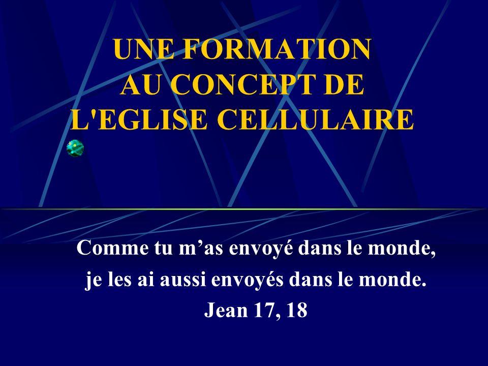 UNE FORMATION AU CONCEPT DE L EGLISE CELLULAIRE
