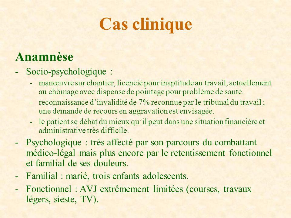 Cas clinique Anamnèse Socio-psychologique :