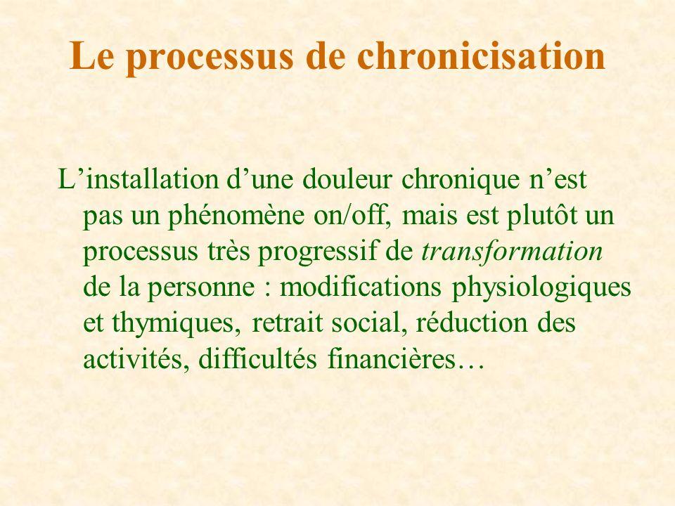 Le processus de chronicisation