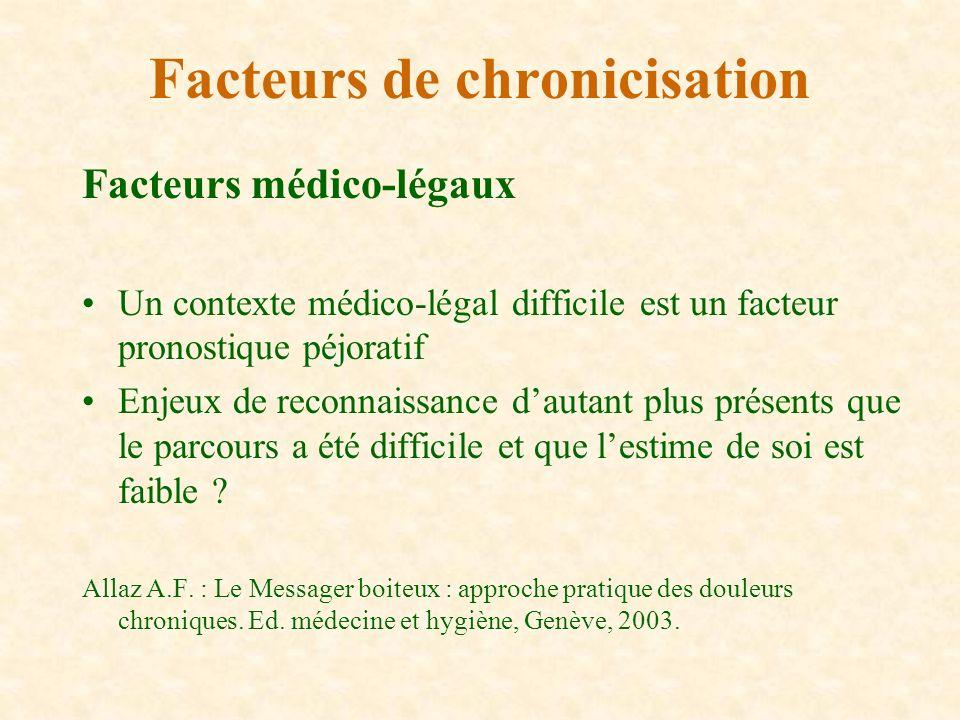 Facteurs de chronicisation